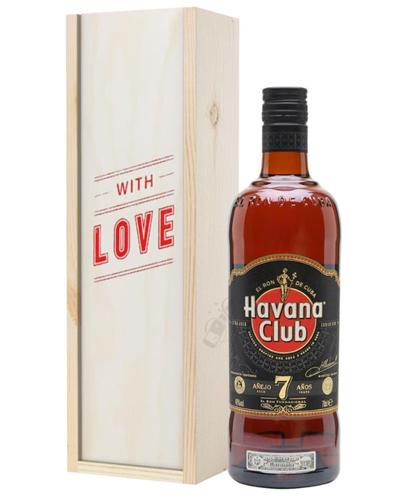 Havana Club 7 Year Old Rum Valentines Day Gift