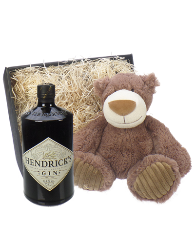 Hendricks Gin And Teddy Bear Gift Basket