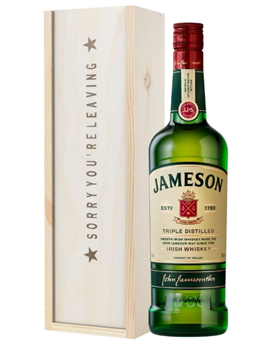 Irish Whiskey Sorry You Are Leaving Gift