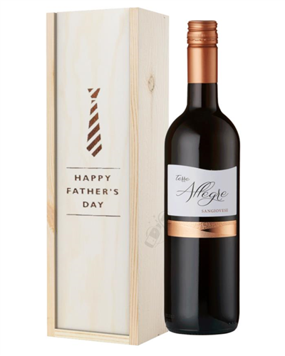 Italian Sangiovese Red Wine Fathers Day Gift In Wooden Box