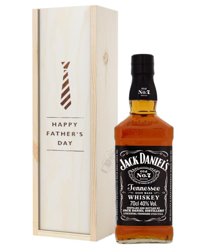 Jack Daniels Tennesse Whiskey Fathers Day Gift In Wooden Box