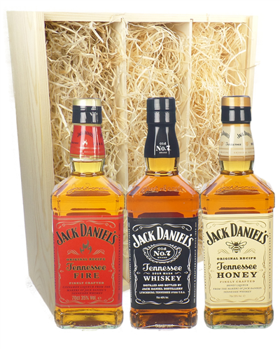 Jack Daniels Whiskey Triple Gift Set
