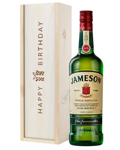 Jameson Irish Whiskey Birthday Gift In Wooden Box