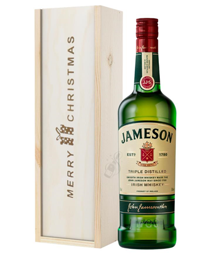 Jameson Irish Whiskey Christmas Gift In Wooden Box