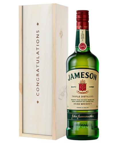 Jameson Irish Whiskey Congratulations Gift In Wooden Box