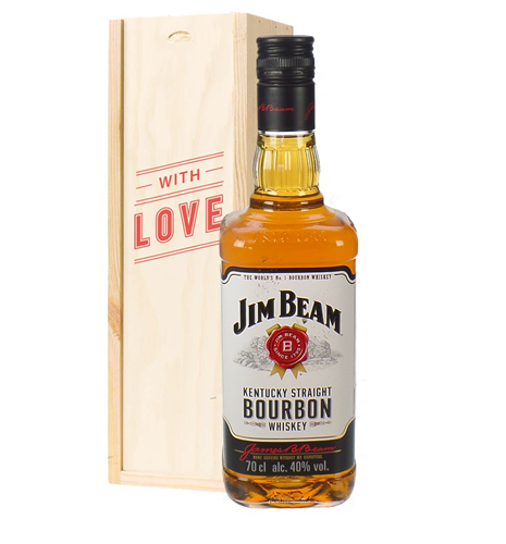 Jim Beam Kentucky Bourbon Whiskey Valentines Day Gift