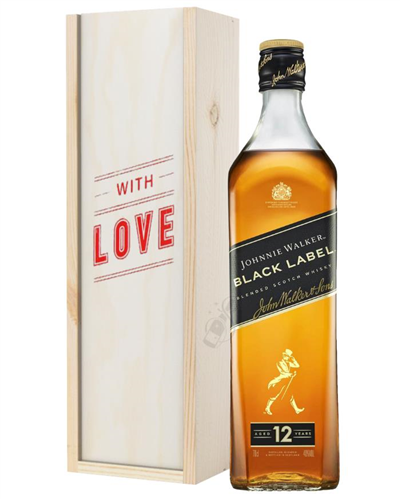 Johnnie Walker Black Label Whisky Valentines Day Gift