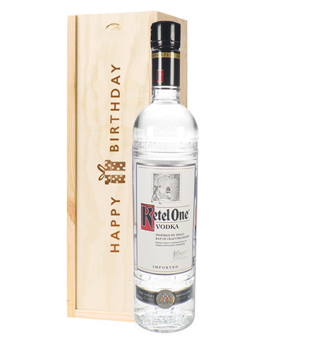 Ketel One Vodka Birthday Gift In Wooden Box