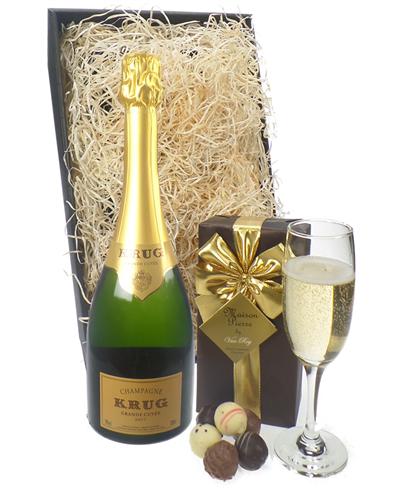 Krug Champagne & Belgian Chocolates Gift Box