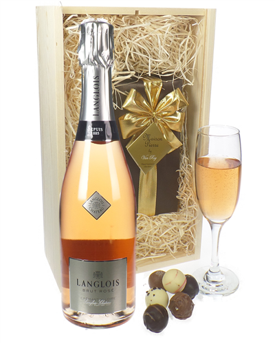 Langlois Rose Sparkling Wine And Belgian Chocolates