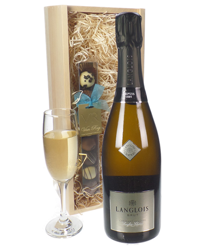 Langlois Sparkling Wine And Chocolates Gift