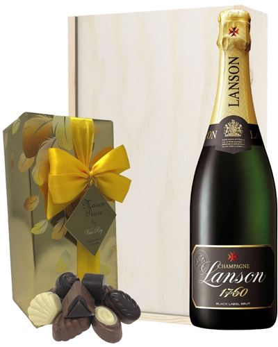 Lanson Champagne & Belgian Chocolates Gift Box