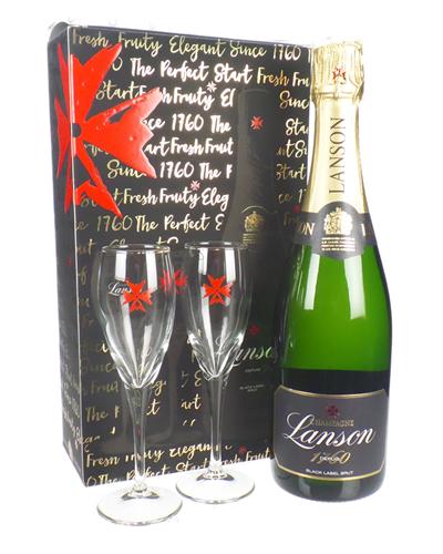 Lanson Champagne Branded Flute Set