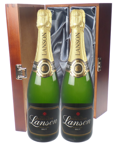 Lanson Champagne Twin Luxury Gift