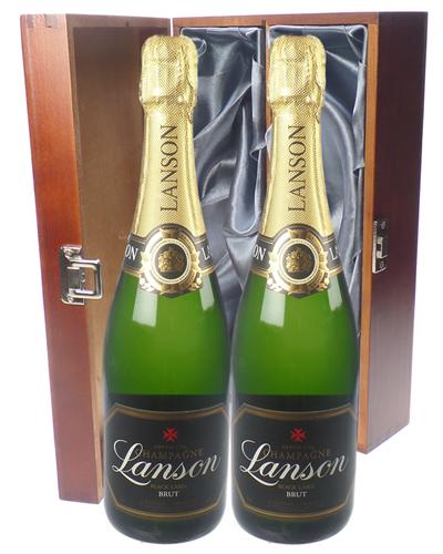 Lanson Champagne Twin Luxury Gift