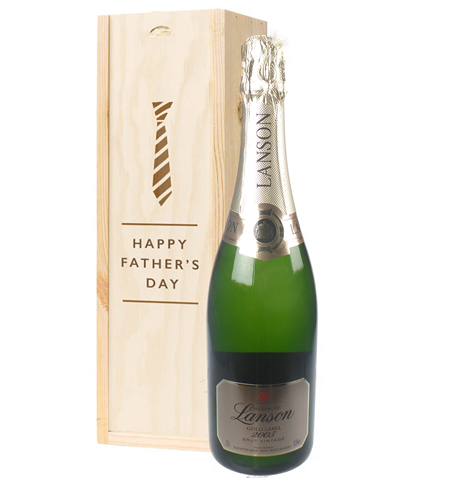 Lanson Gold Label Vintage Champagne Fathers Day Gift In Wooden Box