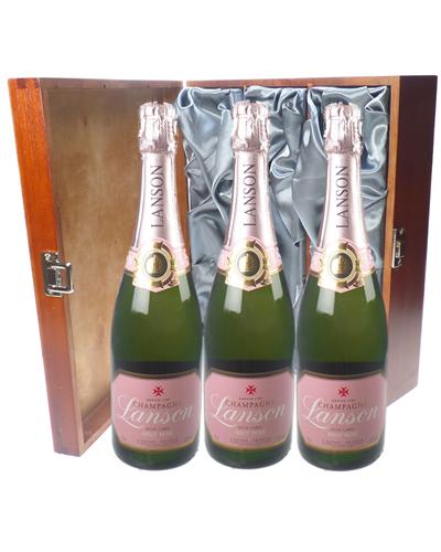 Lanson Rose Champagne Triple Luxury
