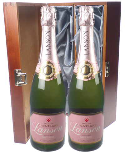Lanson Rose Champagne Twin Luxury Gift