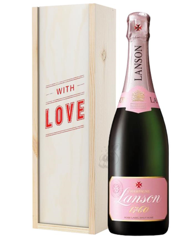 Lanson Rose Champagne Valentines Day Gift