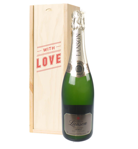 Lanson Vintage Champagne Valentines Day Gift