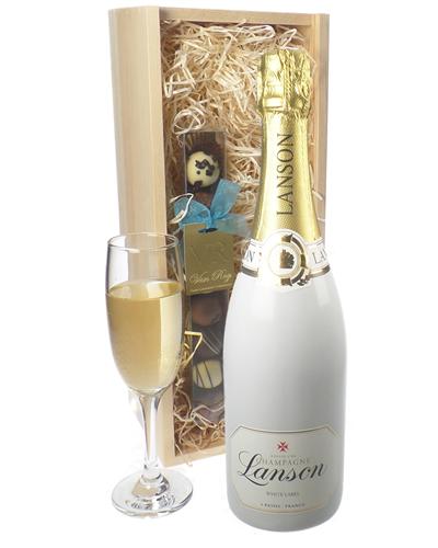 Lanson White Label Champagne and Chocolates Gift Set