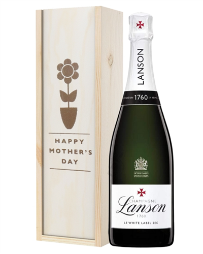 Lanson White Label Champagne Mothers Day Gift