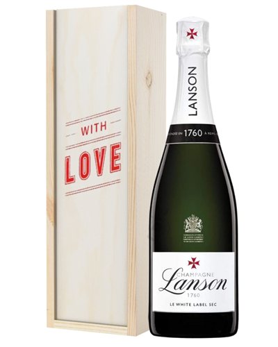 Lanson White Label Champagne Valentines Day Gift