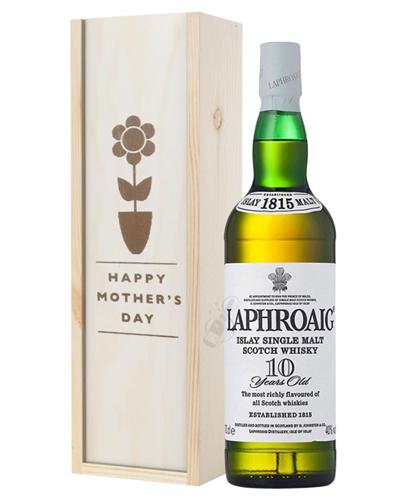 Laphroaig 10 Single Malt Whisky Mothers Day Gift