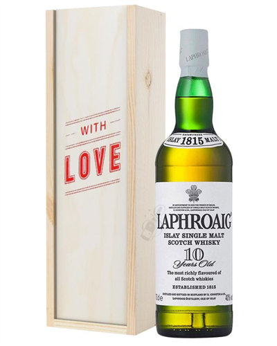 Laphroaig 10 Single Malt Whisky Valentines Day Gift