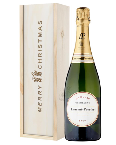 Laurent Perrier Champagne Single Bottle Christmas Gift In Wooden Box