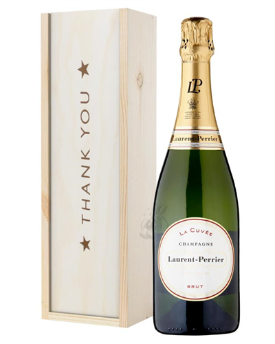 Laurent Perrier Champagne Thank You Gift In Wooden Box