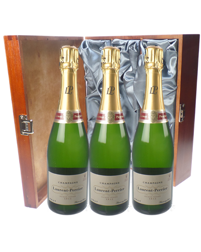 Laurent Perrier Champagne Triple Luxury Gift