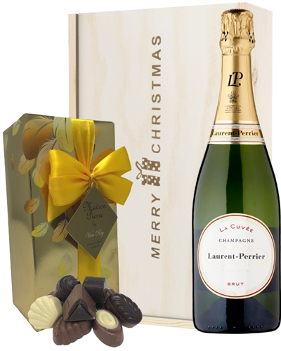 Laurent Perrier Christmas Champagne and Chocolates Gift Box