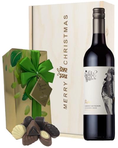 Limestone Coast Cabernet Sauvignon Red Wine  Christmas Wine and Chocolate Gift Box