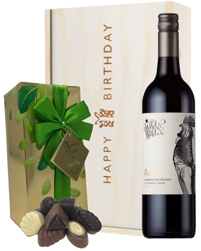 Limestone Coast Cabernet Sauvignon Red Wine and Chocolate Birthday Gift Box