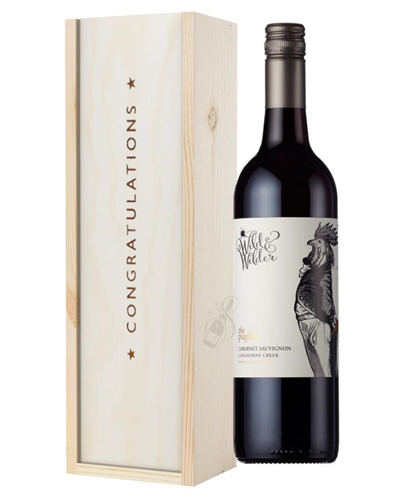 Limestone Coast Cabernet Sauvignon Red Wine Congratulations Gift In Wooden Box