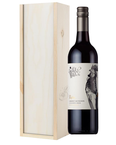 Limestone Coast Cabernet Sauvignon Red Wine Gift in Wooden Box
