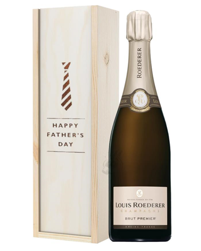 Louis Roederer Champagne Fathers Day Gift In Wooden Box
