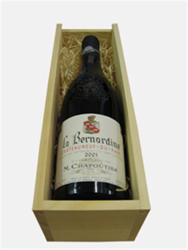 M Chapoutier Chateauneuf-du-pape Wine Gift in Wooden Box