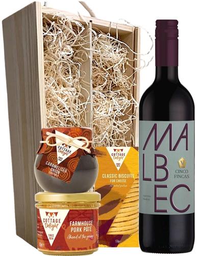 Malbec Wine & Gourmet Food Gift Box