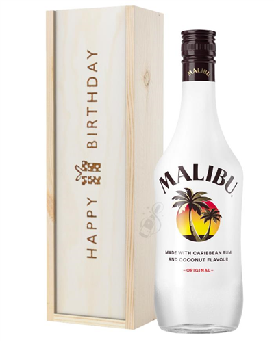Malibu Birthday Gift In Wooden Box
