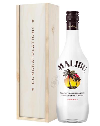 Malibu Congratulations Gift In Wooden Box