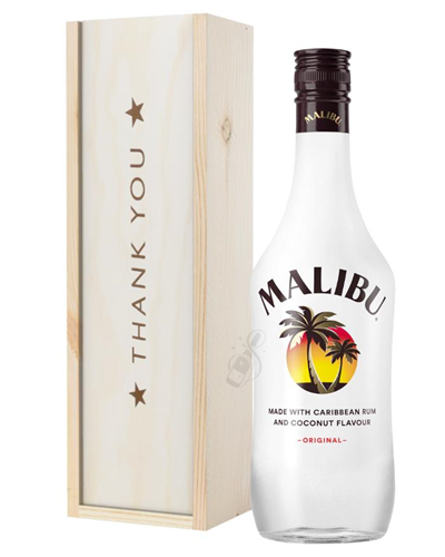 Malibu Thank You Gift In Wooden Box