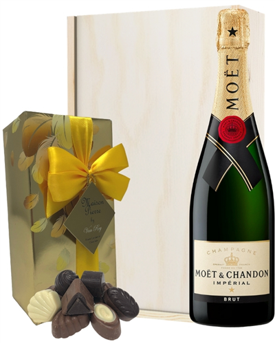 Moet & Chandon Champagne & Belgian Chocolates Gift Box