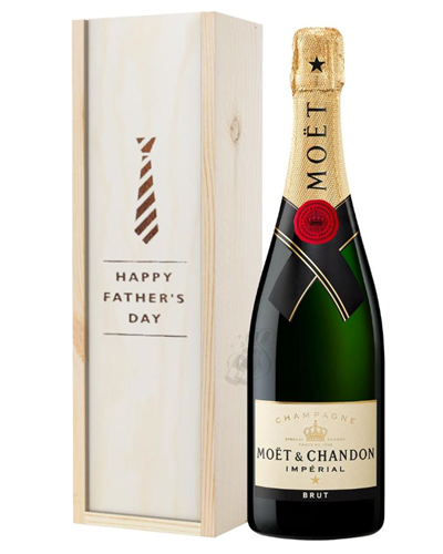 Moet et Chandon Champagne Fathers Day Gift In Wooden Box