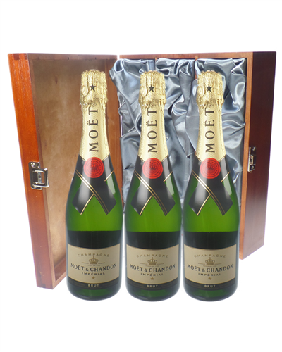 Moet et Chandon Champagne Triple Luxury Gift