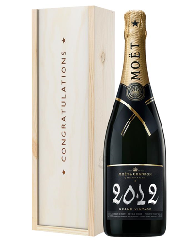 Moet et Chandon Vintage Congratulations Gift In Wooden Box