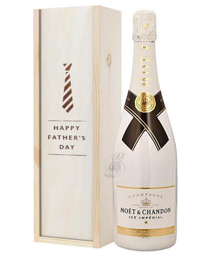 Moet Ice Imperial Champagne Fathers Day Gift In Wooden Box