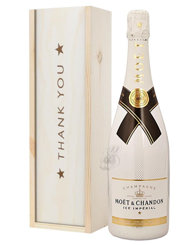 Moet Ice Imperial Champagne Thank You Gift In Wooden Box