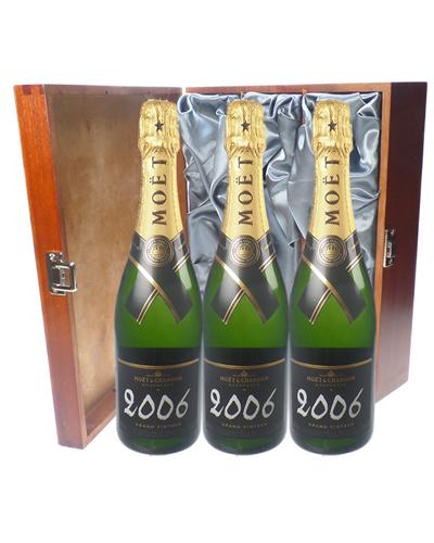Moet Vintage Champagne Triple Luxury Gift